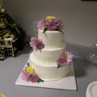Bridal Shower Buttercream with real flowers