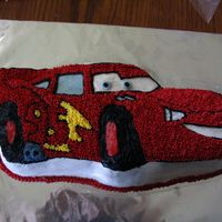 Lighting Mcqueen I did this for my nephew's 6th Birthday. I thought it turned out okay. There was alot of outlining.
