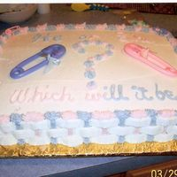 He Or She Baby Cake   This was for a girl at work who did not find out what she was having.
