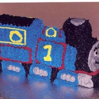 Part 1 Of 2 Thomas The Train   My nephews third birthday I did the train just for him and a sheet cake for the rest of the guests.