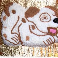 Puppy Cake   All my nephew asked for was a puppy cake. I used a shaped pan. Tried to make it look like his new puppy.