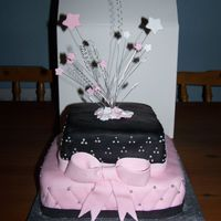 Carly's Girly Birthday Cake i made this for my nephews step sister's 16th birthday