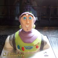 Buzz Lightyear   cake made for friends little boy he loves toy story head made from rice crispy cakes