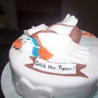 Pigeon Cake cake made for pigeon fancier