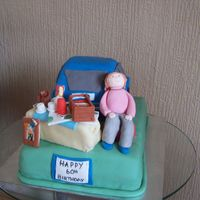 Car Boot Cake made this for my best frinds mum who loves car booting