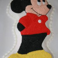 Mickey Mouse I used a cake picture from CC as inspiration for the color scheme for this cake. Sorry I can't remember whose cake it was I saw.