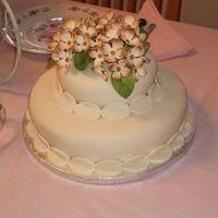 Mother's Day Cake Ivory fondant with pastillage hydrangeas. It's my second time working with fondant. I was going to do this cake for my grandma's...
