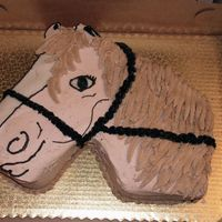 Horse this is my first attempt at a horse... I think it turned out pretty good. I can't remember the inspiration cake, but I will post that...