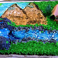 """gone Fishing"" - Retirement Cake! This is a quirky Retirement Cake for a gentleman that has chosen fishing to pass the time of day! It is a 1/2 sheet cake decorated in..."