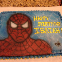 Spider Man Spiderman Cake for my grandsons 7th birthday.