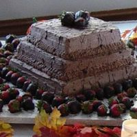 Megan's Groom Cake I made this Grooms cake for one of my daughters friends wedding. It is a chocolate covered strawberry, chocolate covered strawberry cake....