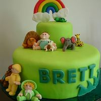 Noah's Ark Baby Shower Cake This was for a friends baby shower. It was a noah's ark theme. These are my first animals I have realy made. My friend helped me with...