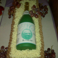 Wine Bottle This cake was made for my Grandma's 80th Birthday. The bottle is solid chocolate and the label is an edible image.