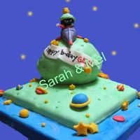 Marvin The Martian   Chocolate cake covered with fondant, all decorations edible