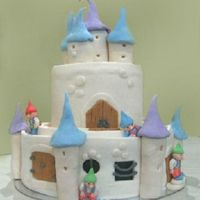 Gnomes   Chocolate cake covered with fondant. made this for my godson's first birthday :)
