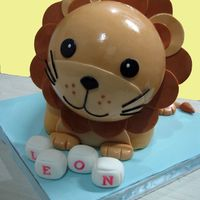 Lion   Chocolate cake covered and decorated with fondant