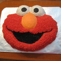 Elmo / My First Character Cake I completed Wilton Course 1 a couple of months ago. This was the first character cake I've ever done. It is practice for my son's...