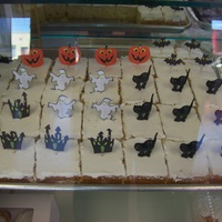 Halloween Cake Squares yellow cake butter cream icing