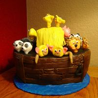 Noah's Ark Cake animals made out of fondant. Got this idea from Debbie Brown's book.