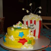 Pop On Over! My first decorated cake! For my DD birthday. French vanilla with buttercream and fondant.Thanks to all of you CC's who inspired me...