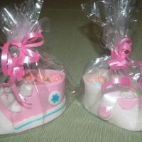 Baby Shoes Made these out of fondant and filled with sweat tarts for friends baby shower.