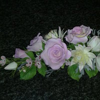 Spray With Roses, Blushing Bride Roses, Blushing bride and geralton wax flowers