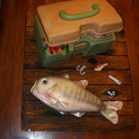 Tackle Box And Fish
