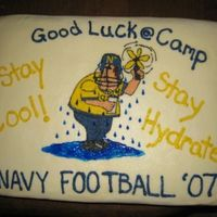 Navy Football Camp '07 My boyfriend is on the Navy football team and they just started training camp so I thought it would be a nice surprise to make them a good...