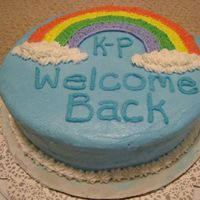 Rainbow Cake- First Cake Ever-Wilton Course 1 Another view.