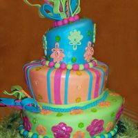 Whimsical Birthday Cake I made this cake for my daughters 13th birthday