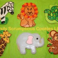 Jungle Animals  When I come up with designs, I look at stickers, stock photos, rubber stamps, etc for ideas. These took forever! The lion design was...