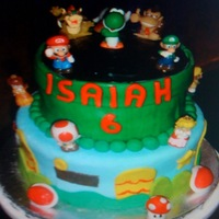 Super Mario Bros Cake   My first Super Mario Bros Cake. I loved making this cake!! I grew up on Mario so this was a treat.