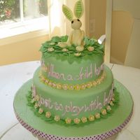 Velveteen Rabbit Baby Shower Cake I made this one for my sister's friend's baby shower. The quote is from The Velveteen Rabbit and the bunny is my attempt to copy...