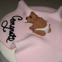 Gumpaste Baby Girl Bear With Blanket