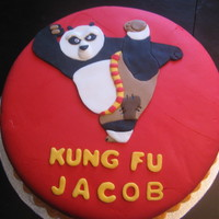 Kung Fu Panda Cake This cake was done for a friend's son for his 4th birthday.