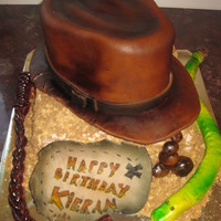"Indiana Jones Cake  For Kieran's 7th Birthday! he asked his mom if i knew ""buddy"" from CakeBoss! I WISH! Too cute! this was a complete blast 2..."
