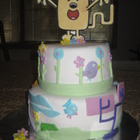 Wow Wow Wubbzy Cake Vanilla with vanilla buttercream. so fun to make! thanx 4 looking!