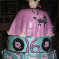 Fifties Themed Sweet Sixteen Cake   Poodle skirt barbie for a 50's themed sweet sixteen for a sweet young lady! thanks for looking!