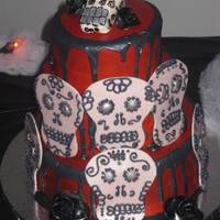 Halloween Cake Halloween cake. Red Velvet. TFL! inspired by bleeding heart bakery's version!