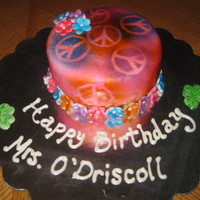 Peace Sign Cake   birthday cake for the greatest teacher ever who loves peace signs!