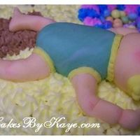 "Rockin Chairs Rockin Babies Baby Shower Cake ""baby I Made"" Here is a picture of the Baby I made totally from Fondant!This was one of my First ""People"" I have made from Fondant! It was so..."