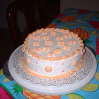 Wilton Course I, Second Week Of Class   This was the second decorated cake I did while in my class. Very simple but very cute to me.