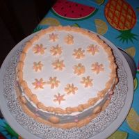 Wilton Course I, Second Week Of Class Top View   Top view of the cake