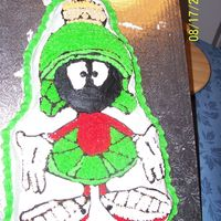 Marvin The Martian I made this for my brother who came to visit me in MA for the first time since I moved away from home. He loves Marvin and Loved the cake!!...