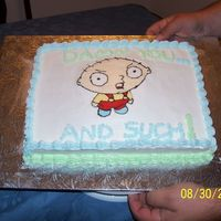 Stewie Cake  This is only my second FBCT. Did a few things differently thanks to the advice and help of TexasSugar (THANK YOU SO MUCH!!). I'm not...