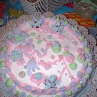 Practice For My Step-Daughter  My 11 step-daughter wanted to decorate a cake while I practiced for class. I gave her a couple of bags, told her how to change the tips on...
