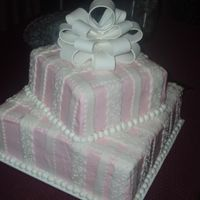 Vee Bridal Shower Cake