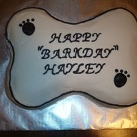 Dog Bone Cake   A cake for my daughter's 9th Birthday. This was an easy one!!!