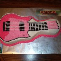 Camp Rock Guitar Birthday Cake  I made this cake for my daughter's 7th Birthday. She L-O-V-E-S Camp Rockand the JoBros. I didn't have enough room to put the Camp...