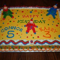 Clown Cake   A clown cake made for a co-workers children. This is my 2nd PAID cake!!!